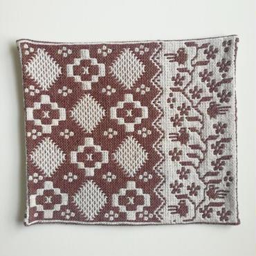 ヤノフ村の織物 クッションカバー 鳥と幾何学模様(42×37cm) #2214