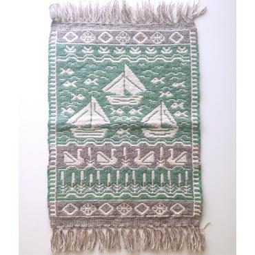 ヤノフ村の織物 タペストリー ヨットとスワンボート(40×60cm) #1368