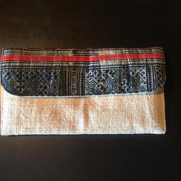 ベトナム藍染め長財布