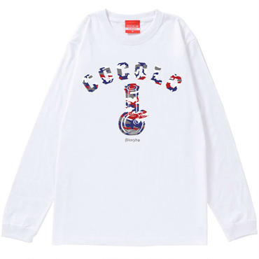 PURPLE CAMO BONG L/S TEE (WHITE)