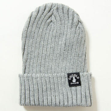 FAT RIBBED BEANIE (HEATHER)