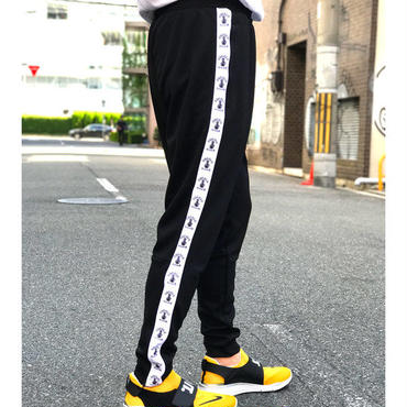 SIDE BONG SLIM JERSEY PANTS