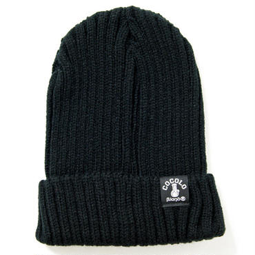 FAT RIBBED BEANIE (BLACK)