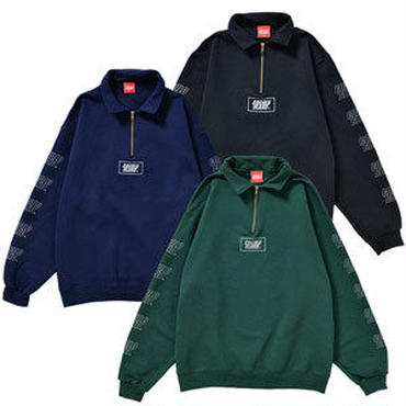 REFLECTOR LOGO HARF ZIP SWEAT (BLACK&NAVY&GREEN