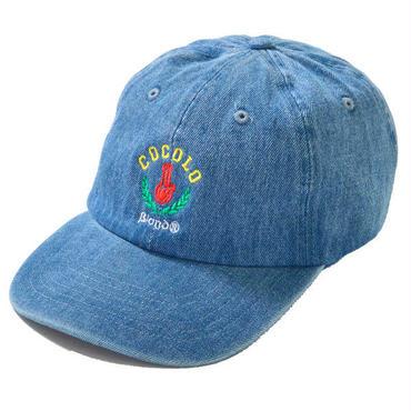 LEAF BONG 6PANEL CAP (WASH DENIM)