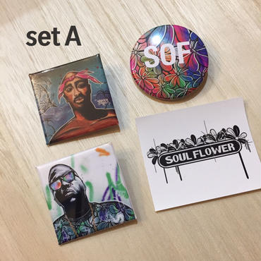 Soul Flower Original Can badge 3sets