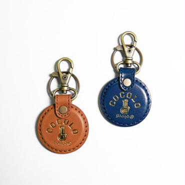LEATHER BONG KEY RING TAG(NAVY&BROWN)