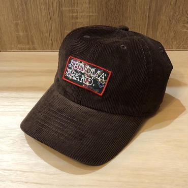 Vintage wappen cord cap(BROWN)