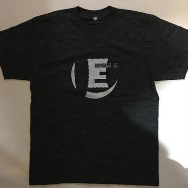 """""""E"""" S/S Tee(ヘザーブラック)"""