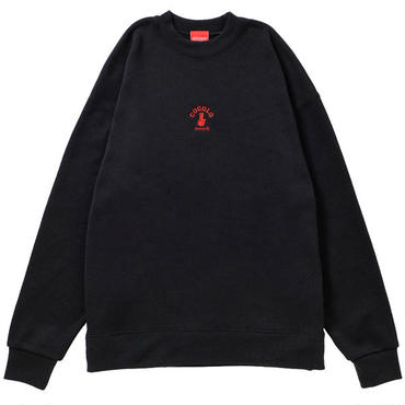 EMBROIDERY BONG MOCK NECK SWEAT (BLACK)