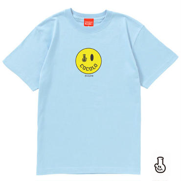 SMILEY BONG TEE (Lt-BLUE)