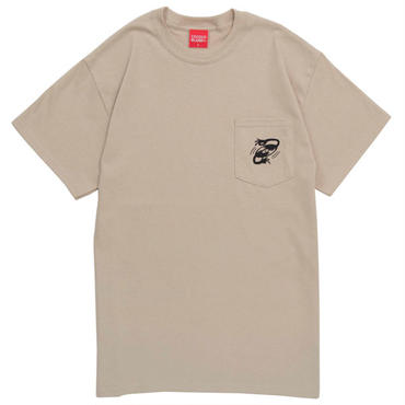 RECORD SHOP POCKET S/S Tee (SAND)