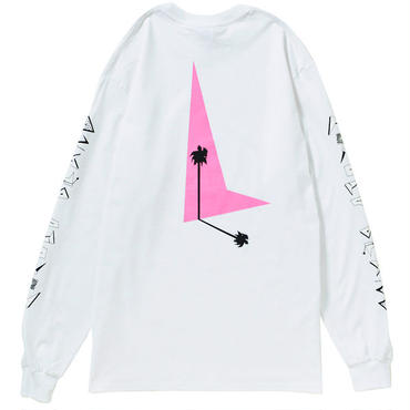 80s PALM TREE L/S(WHITE)