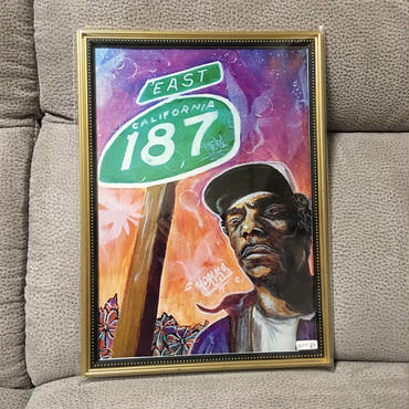 Paint snoop dogg Print A4(Black Flame)