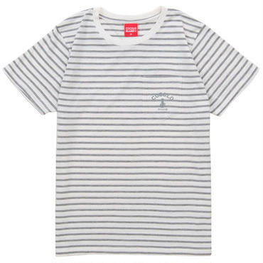 FLOCKY BORDER POCKET S/S Tee (GRAY)
