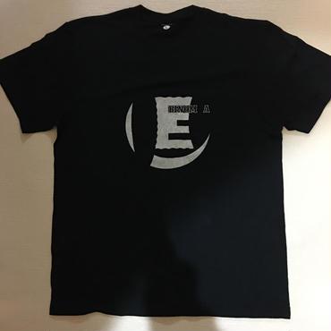 """""""E"""" S/S Tee(ブラック)"""