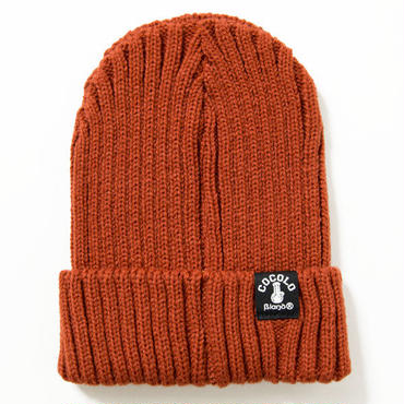 FAT RIBBED BEANIE (RUST ORANGE)