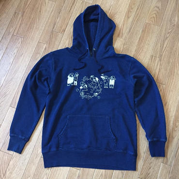 MC BATTLE denim hoodie