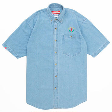 LEAF LOGO DENIM S/S SHIRTS (WASH)