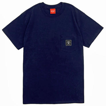 SQUARE LOGO POCKET S/S Tee (NAVY)