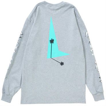 80s PALM TREE L/S(GRAY)