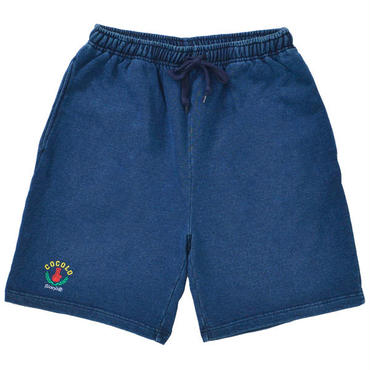 LEAF BONG DENIM SWEAT SHORTS
