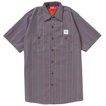 STRIPE WORK SHIRTS(GRAY)
