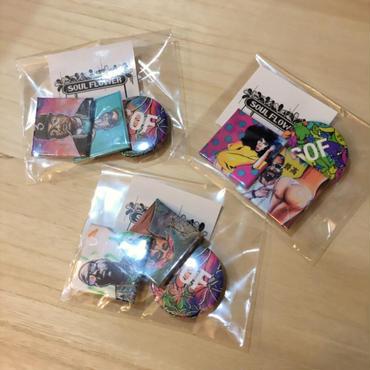 Soul Flower Original Can badge 3sets