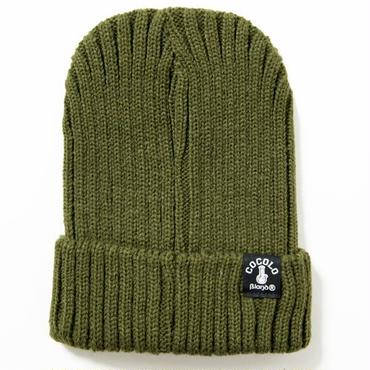 FAT RIBBED BEANIE (MOSS GREEN)