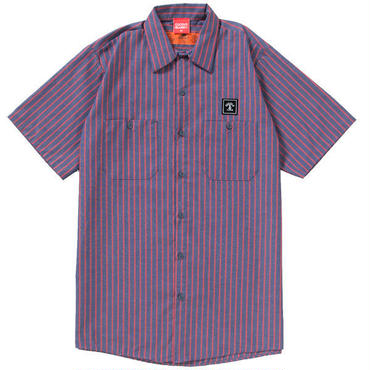 STRIPE WORK SHIRTS(NAVY)
