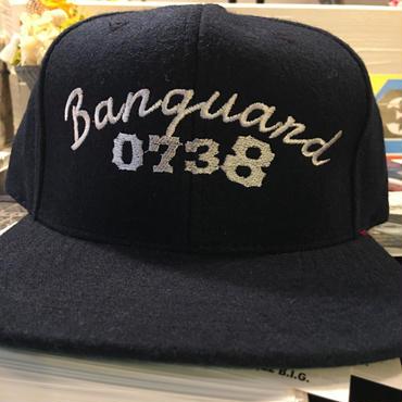 Banguard melton wool snap back cap(navy/black/gray)