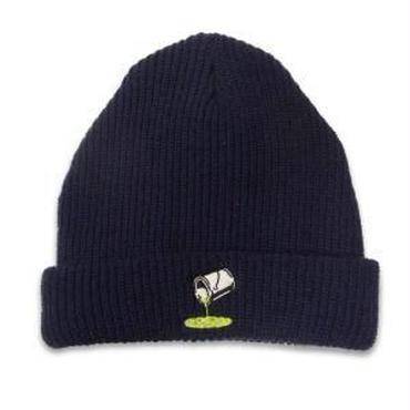 ROLLERS / PAINTCAN Knit Cap . Indigo