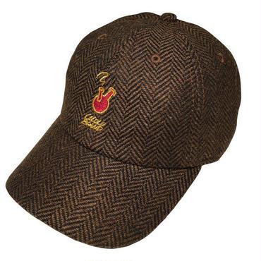ROUGH BONG 6PANELS CAP (HERRINGBONE BLACK&HERRINGBONE BROWN)