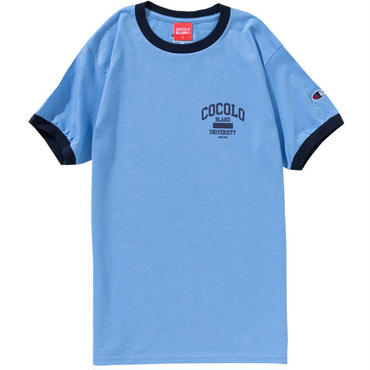 UNIVERSITY RINGER S/S TEE (LT-BLUE)