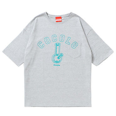 BONG POCKET WIDE TEE(GRAY)