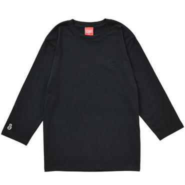 BONG EMBROIDERY 3/4 SLEEVE TEE (BLACK)