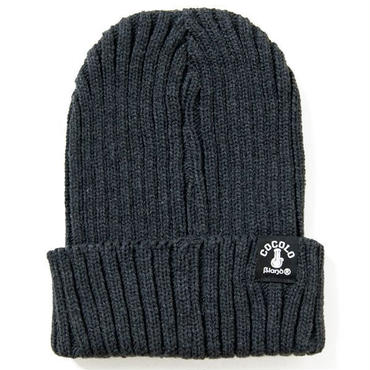 FAT RIBBED BEANIE (CHACOAL)