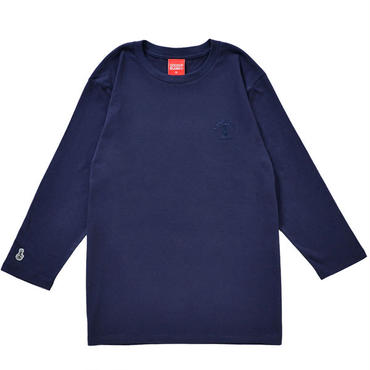 BONG EMBROIDERY 3/4 SLEEVE TEE (NAVY)