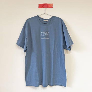 ヌーベルバーグWIDE Tee/DEEP SKY BLUE