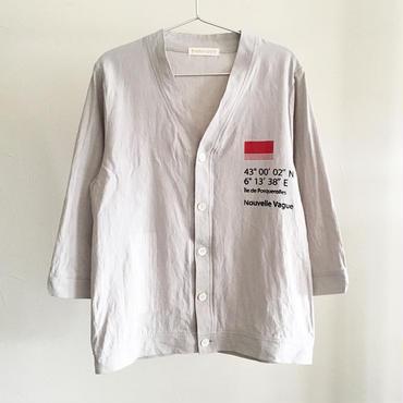 綿麻ワッシャー/7分袖シャツカーデ