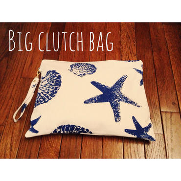BIG clutch bag  starfish