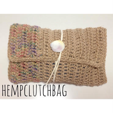 HEMP clutchbag/rainbow