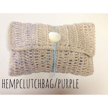 HEMP clutch bag/purple