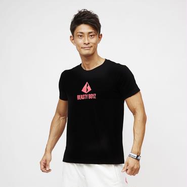 センタープリントTシャツ  カラー:ブラック 品番:0005