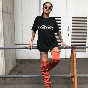 """FRENEMY""プリントTシャツ      カラー:ブラック  品番:7001"