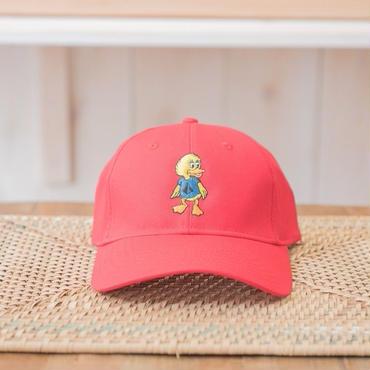 Duck刺繍CAP カラー:レッド 品番:1014