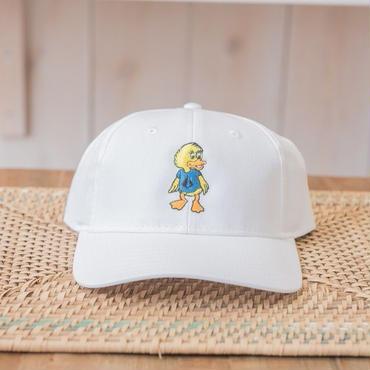 Duck刺繍CAP カラー:ホワイト 品番:1014
