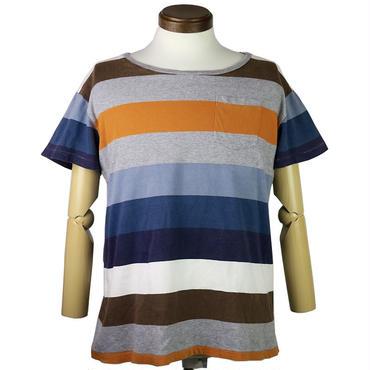 Nudie Jeans(ヌーディージーンズ) ボーダーポケットTシャツ