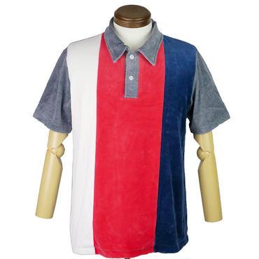 TOWNCRAFT Penneys(タウンクラフトぺニーズ) トリコロールベロアポロシャツ