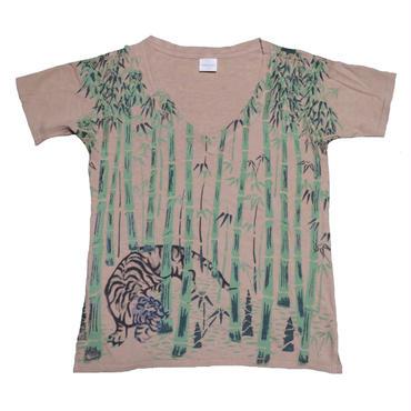KAPITAL(キャピタル) 虎プリントVネックTシャツ
